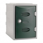 Plastic Single Door Locker Camlock Green 450mm