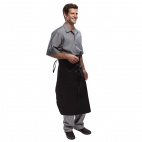 A577 Executive Chefs Tapered Apron - Black