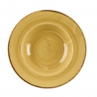 Churchill Stonecast Round Wide Rim Bowls Mustard Seed Yellow 280mm