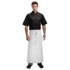 A502 Waist Apron with Ties (Extra Length) - White