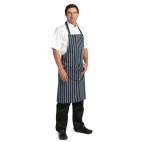 A535 Butchers Bib Apron - Navy Stripe