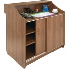 CF707 Deluxe Reception Counter 1500mm Walnut