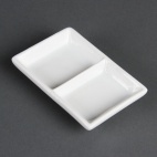 C335 Whiteware 2 Section Dish