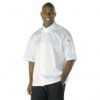 A857-XS Cool Vent Executive Chefs Jacket (Short Sleeve) - White
