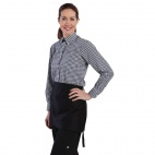 Womens Gingham Shirt Black XS