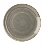 Churchill Stonecast Round Coupe Plates Peppercorn Grey 185mm
