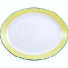 Rio Yellow Oval Coupe Dishes 255mm
