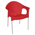 Stacking Bistro Armchairs Red