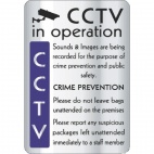 Y928 CCTV In Operation Crime Prevention Sign