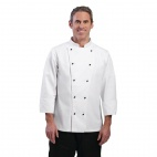 DL710-XS Chicago Long Sleeve Chef Jacket - White