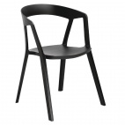 Black Polypropylene Armchairs (Pack of 4)