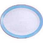 Rio Blue Oval Coupe Dishes 280mm