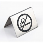 U044 Stainless Steel Table Sign - No Smoking