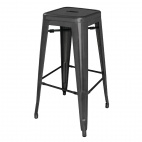 DL881 Black Steel Bistro High Stool (Pack of 4)