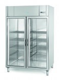 AGN1402-CR 1300 Ltr Glass Double Door Display Fridge