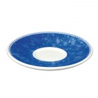 Churchill New Horizons Marble Border Cappuccino Saucers Blue 170mm