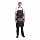 Urban Manhattan Bib Apron Black - B718