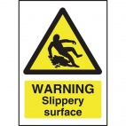 W294 Warning Slippery Surface Sign