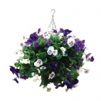 "CG570 22"" Purple and White Pansy Ball"