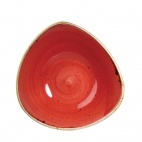 Churchill Stonecast Triangular Bowls Berry Red 235mm