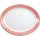 Rio Pink Oval Coupe Dishes 255mm