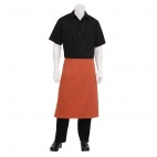 Medium Length Bistro Apron Rust