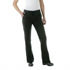 A431-L Ladies Executive Chef Trousers - Black