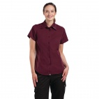 Womens Merlot Cool Vent Chef Shirt XS