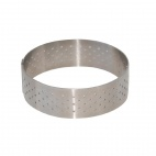 Perforated Stainless Steel Tart Ring 75 x 20mm