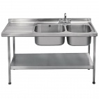 E20605LTPA 1500mm Stainless Steel Sink (Fully Assembled)