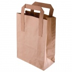 Recyclable Brown Paper Bags Large