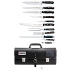 DL384 11 Piece Knife Set With Roll Bag