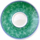Churchill New Horizons Marble Border Cappuccino Saucers Green 170mm