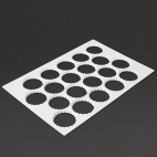 Serrated Cutting Sheet Round 20 Holes 90mm - GT022