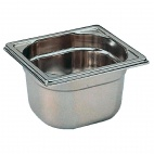 K076 Stainless Steel 1/6 Gastronorm Pan 65mm