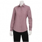 Womens Chambray Long Sleeve Shirt Dusty Rose L