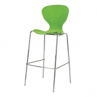 Stacking Lime Plastic High Stool (Pack of 4)