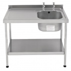 E20602LTPA 1200mm Stainless Steel Sink (Fully Assembled)