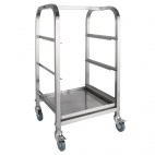 Glass Racking Trolley 3 Tiers for 350 x 350mm Baskets