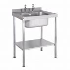 SINK0860SBND 800mm Single Bowl Sink Without Drainer