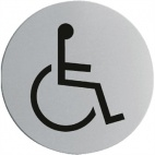 U053 Stainless Steel Door Sign - Disabled