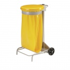 CE013 Collecroule Yellow Mobile Sack Trolley