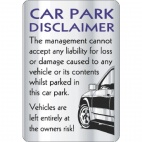W323 Car Park Disclaimer Sign