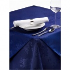 CE623 Roslin Polyester Woven Rose Royal Blue Tablecloth