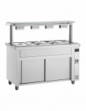 MVV718 1/1 GN Ambient Freestanding Bain Marie w/ Sneeze Guard