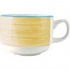 Rio Yellow Slimline Stacking Cups 100ml - V7692