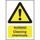 L851 Warning Cleaning Chemicals Sign