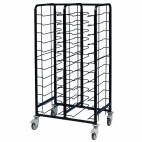 Powder Coated Enamel Clearing Trolley 24 Shelves
