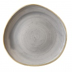 Churchill Stonecast Round Plates Peppercorn Grey 286mm
