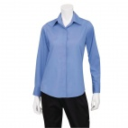 Womens Dress Shirt French Blue L